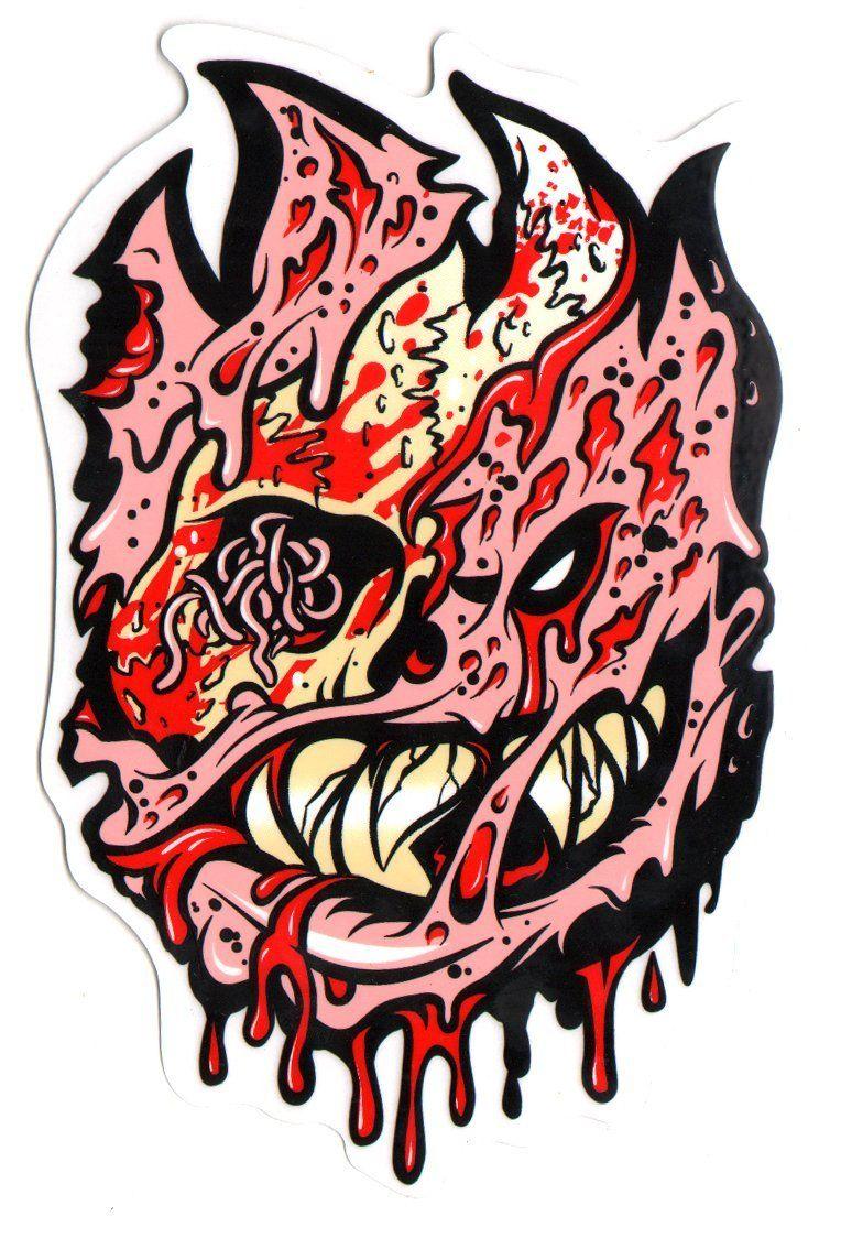 Spitfire Wheels Fleshy Zombie Skateboard Sticker