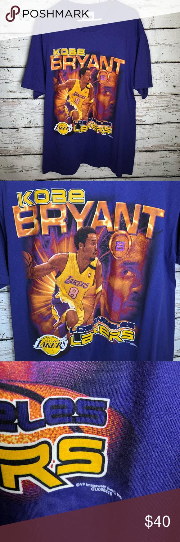 Vintage 2000 Los Angeles Lakers Kobe Bryant Shirt Vintage 2000 Csa Los Angeles Lakers Kobe Bryant 8 Graphic M In 2020 Kobe Bryant Kobe Bryant Shirt Lakers Kobe Bryant