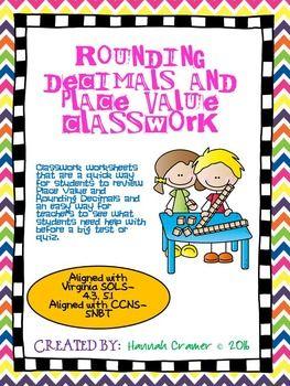 Rounding Decimals and Place Value Classwork