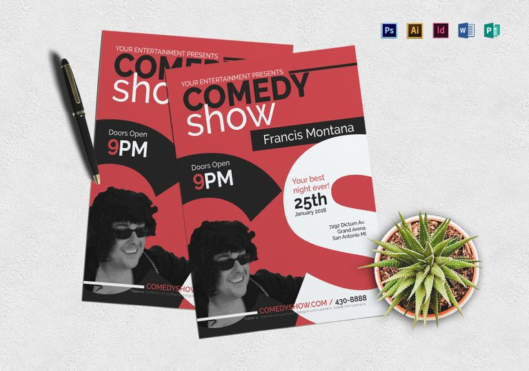 Comedy Show Flyer  Design Flyer Templates    Flyer
