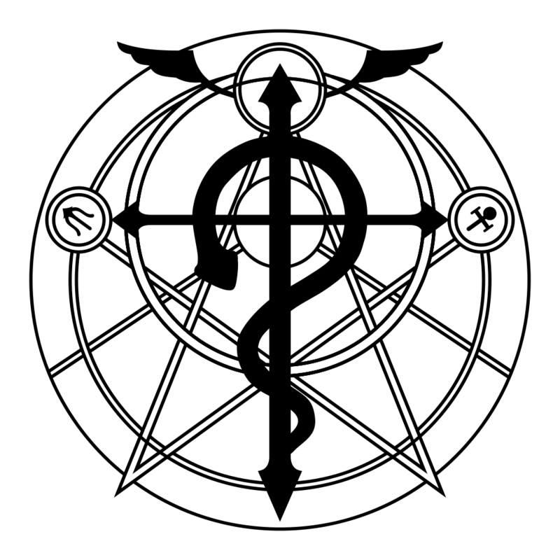 Homuculs Binding Cirlce Fullmetal Alchemist Alchimist