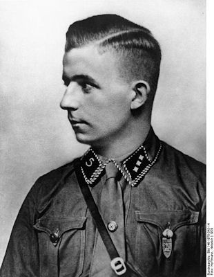 """Horst Ludwig Wessel (October 9, 1907 – February 23, 1930) was a German National Socialist activist and an SA-Sturmführer who was made a posthumous hero of the Nazi movement following his violent death in 1930. He was the author of the lyrics to the song """"Die Fahne hoch"""" (""""The Flag On High""""), usually known as Horst-Wessel-Lied (""""the Horst Wessel Song"""")."""