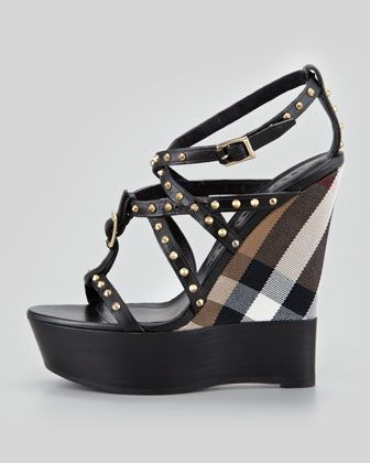 e45e9d3586d More great wedges for spring summer 2013! Yes! This studded house check  wedge comes from Burberry collection. Click here to buy.