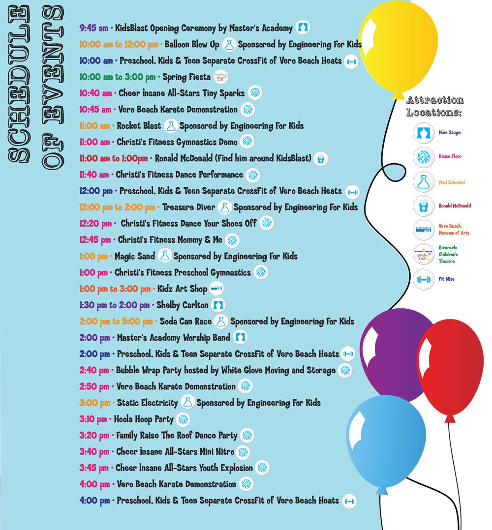 Schedule of events spring fiesta event local events