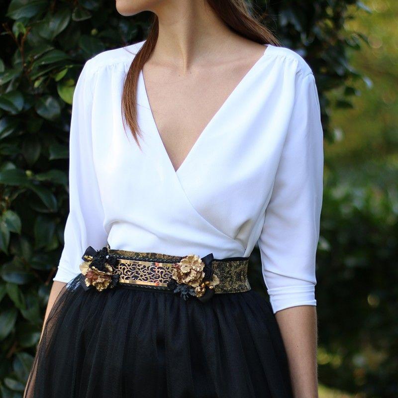 blusa cruzada de media manga para bodas | dresses en 2019 | blouse