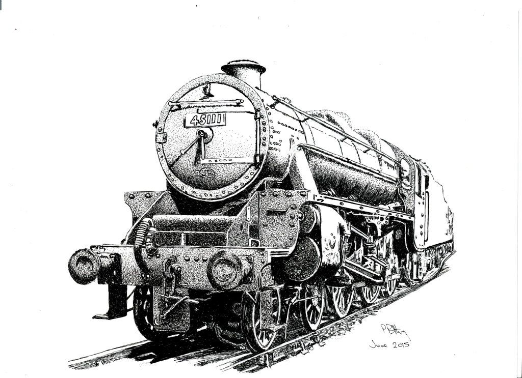 Pen & Ink Drawing, A4 - Steam Train by PetesPiccies on ...