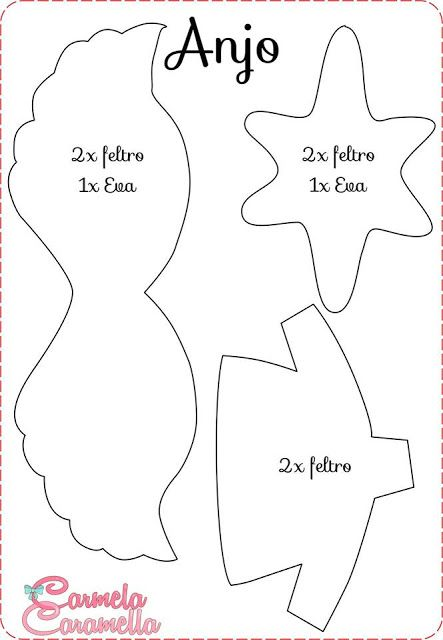 Carmela Caramella : Presépio - Aula 4 - moldes