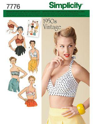Schnittmuster Bustier Tops Armellose Tops Shirts Tops Damen Burda Style Simplicity Schnittmuster Schnittmuster Vintage Schnittmuster