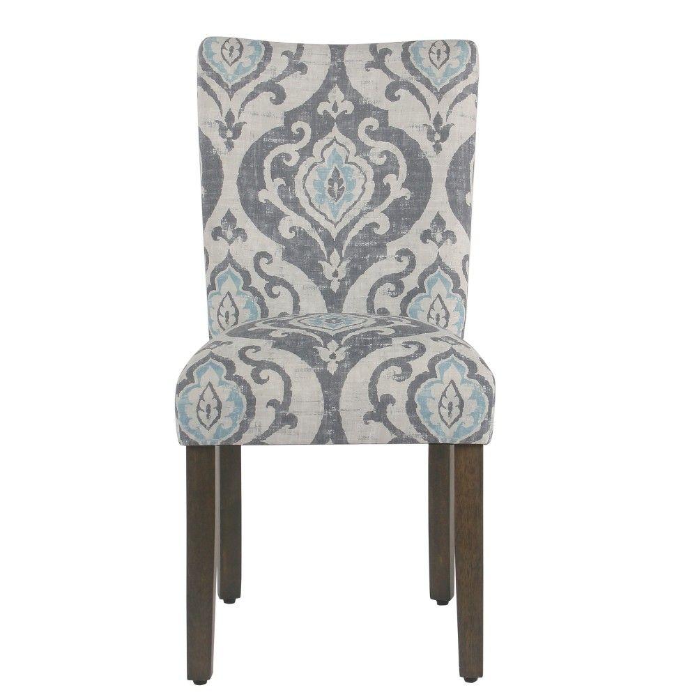 Set Of 2 Parsons Classic Dining Chair Suri Blue Homepop In 2021 Parsons Dining Chairs Blue Dining Chair Homepop Parsons chairs set of 2