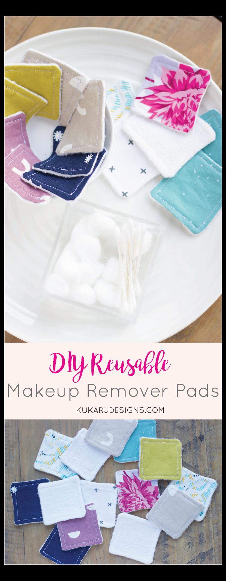 DIY Makeup Remover Pads Reusable Face Wipes snowman