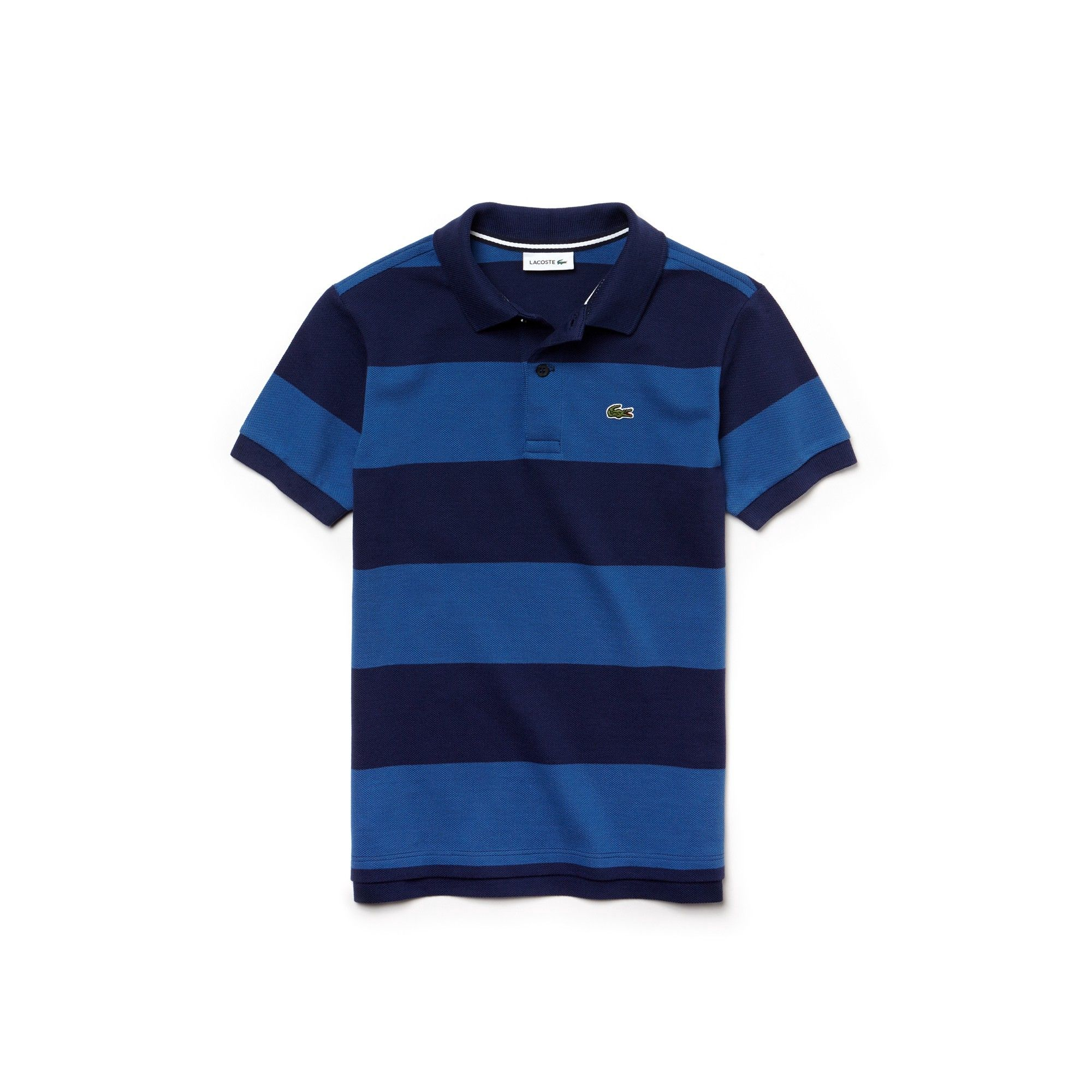 Lacoste Boys  Striped Cotton Petit Piqué Polo Shirt - White Undergrowth  Green 8 Years 1ee6e90290