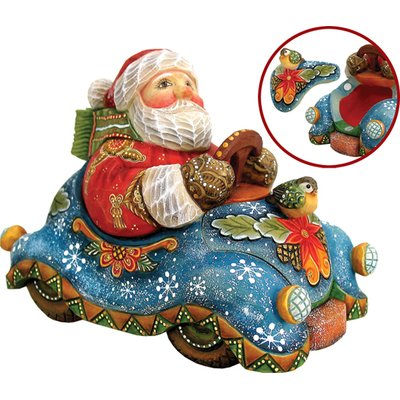 G Debrekht Delivery Santa Figurine Derevo Collection