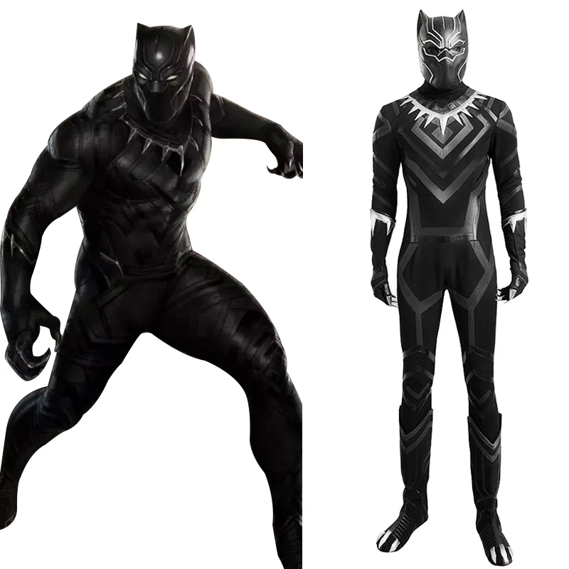 Black Panther T Challa Outfit Cosplay Costume Captain America 3 Civil New Cosplaysky Black Panther Costume Cosplay Costumes Panther Costume