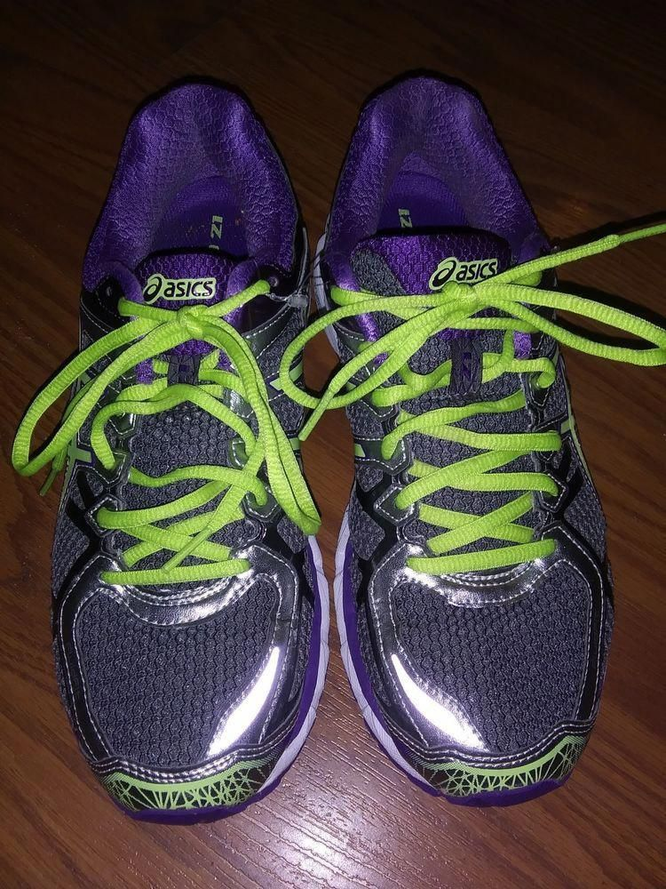 free shipping c4ee4 e1105 ASICS Women s GEL-Kayano 21 Trail Running Shoes 9.5 Medium Purple Green  Silver  fashion  clothing  shoes  accessories  womensshoes  athleticshoes  (ebay ...