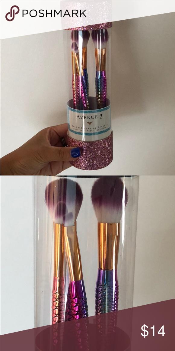 Avenue 9 Mermaid MakeUp Brushes (NEW!) 4 Piece Brush Set