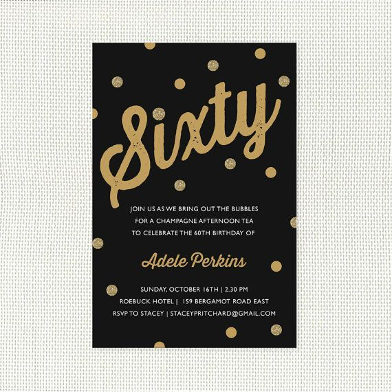 Elegant Free Printable 60th Birthday Invitations