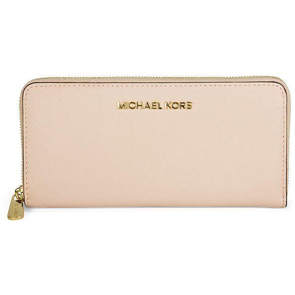 michael kors jet set saffiano leather continental wallet blosson rh pinterest com