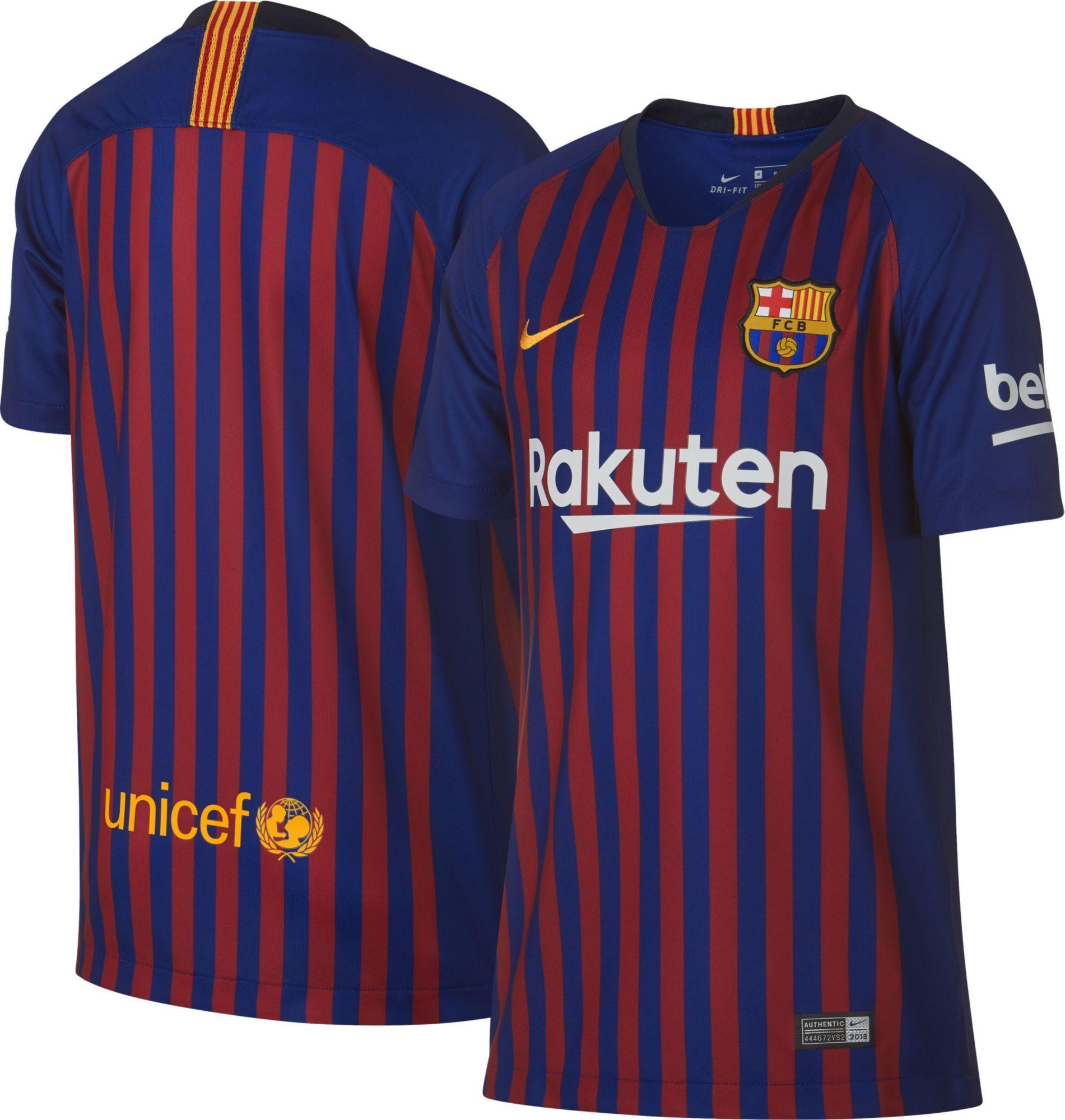 super popular 3aa35 55a94 Nike Youth Barcelona FC 2018 Breathe Stadium Home Replica ...