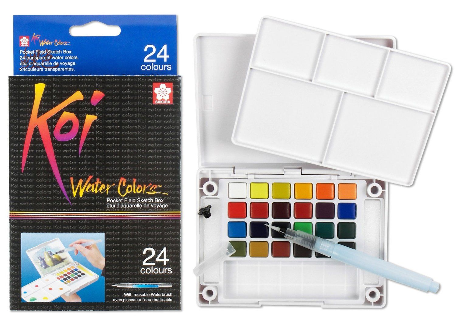 Amazon Com Sakura Xncw 24n 24 Piece Koi Assorted Water Colors