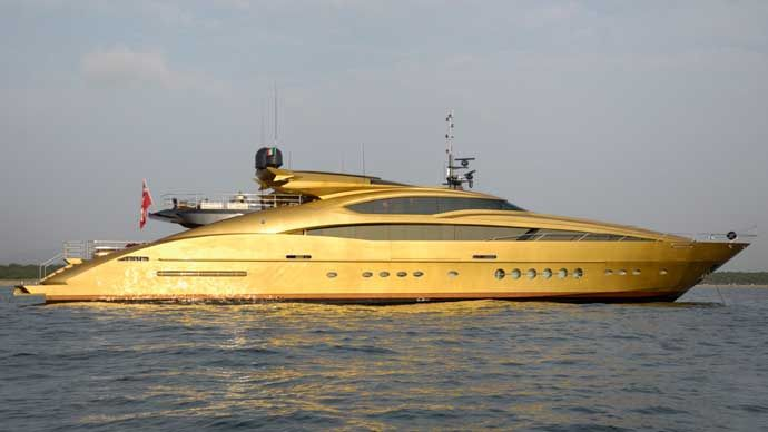 Gold Yacht COLOR GOLD 1 Pinterest Yacht Boat Luxury Yachts And Most Expensive Yacht