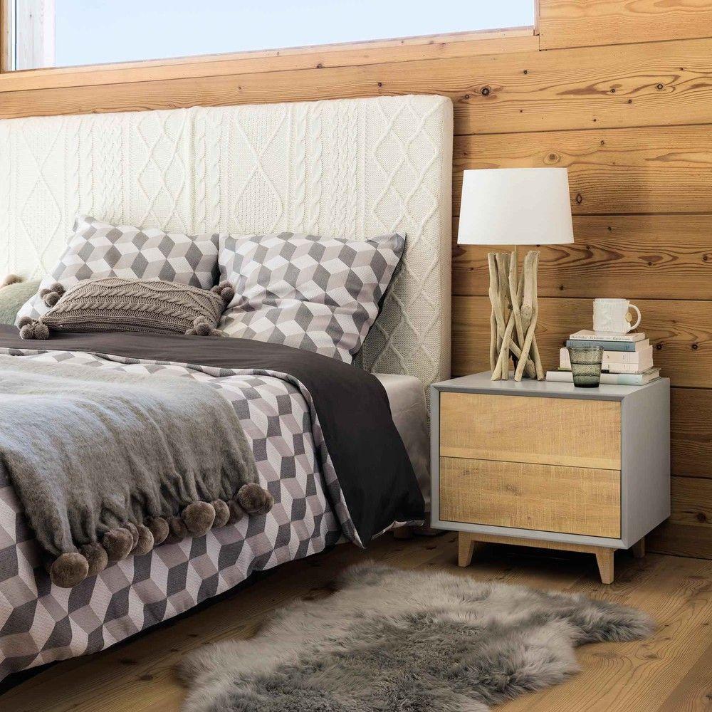 Nachttisch Mit Schublade, B 50 Cm, Grau