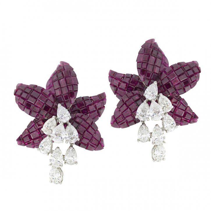 Earrings by Oscar Heyman