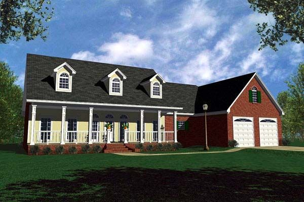 Country   Ranch   Traditional   House Plan 59107 his and hers bathrooms   lol