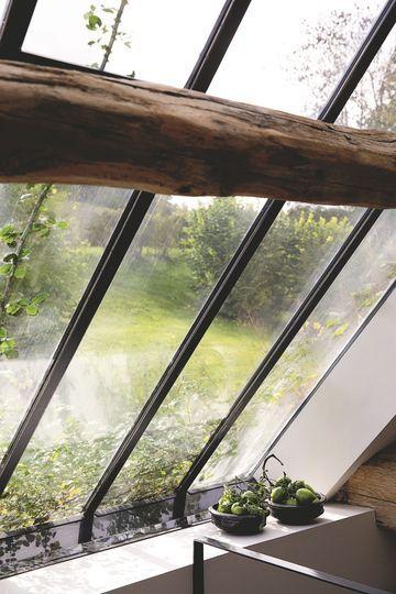 Rénovation maison ancienne à la campagne, en Normandie Roof light