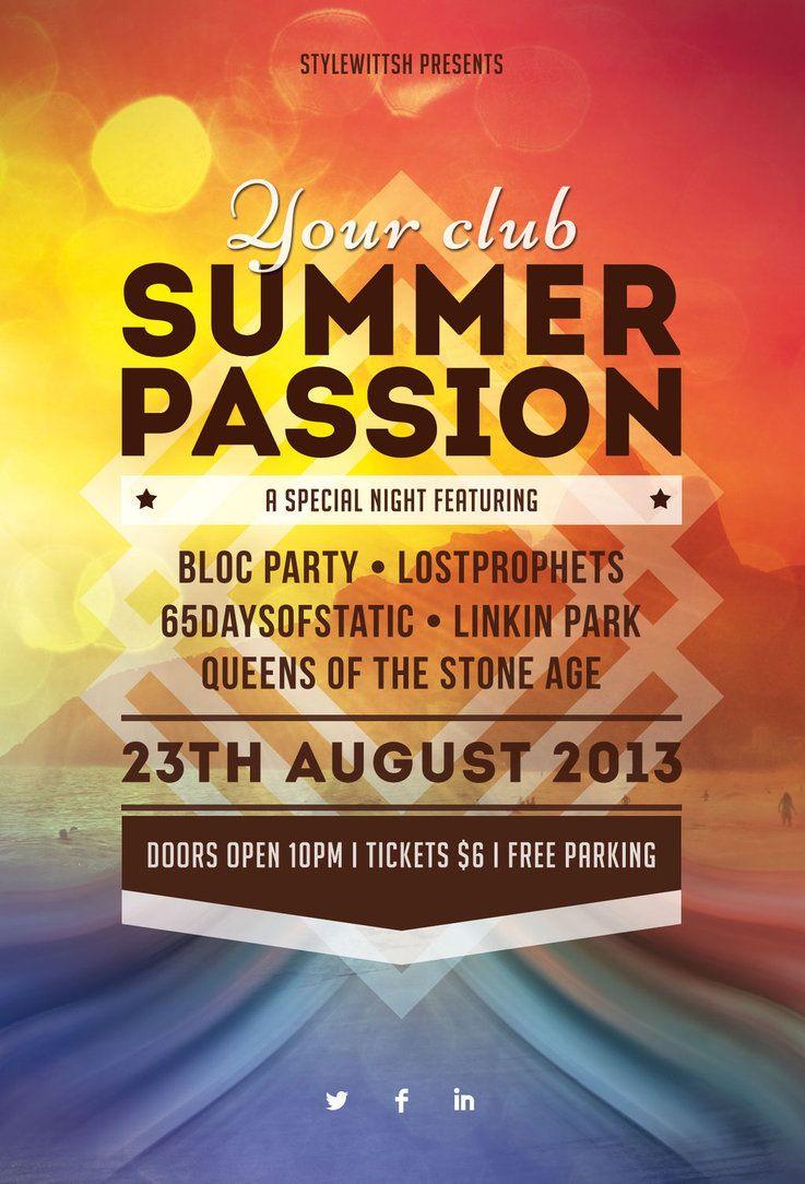 summer passion flyer by stylewish on deviantart