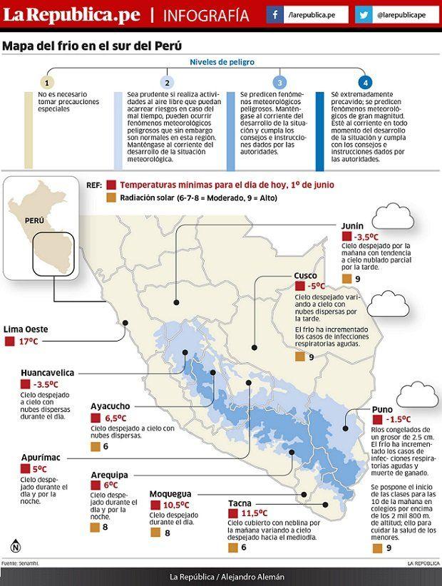 Infografia El Tiempo Map Weather Chart
