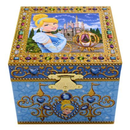 Disney Parks Exclusive Cinderella Musical Jewelry Box Cinderella