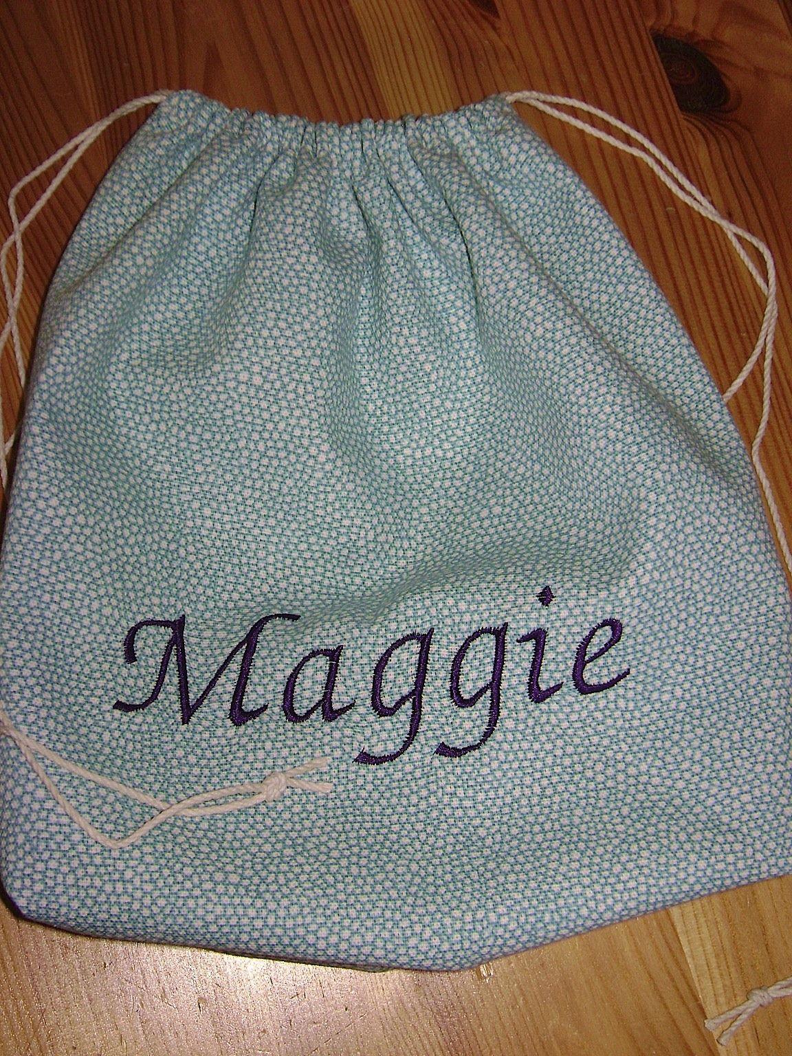 Hanging On By A Thread: Get A Grip-Drawstring Bag Tutorial