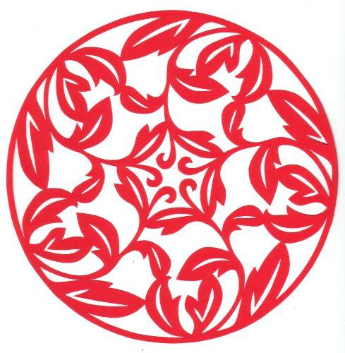 cut paper design Leaf Circle Star
