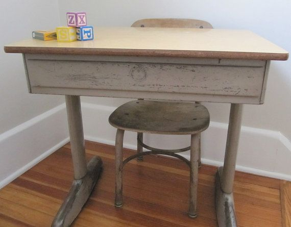 vintage School Desk Metal - American Seating Company | Vintage school, School  desks and Desks - Vintage School Desk Metal - American Seating Company Vintage