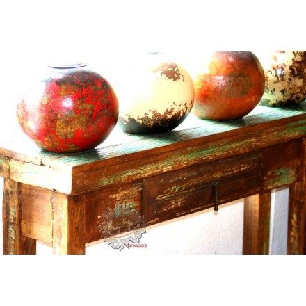 Console meuble mexicain en pin, meuble étroit d\u0027entrée ou couloir