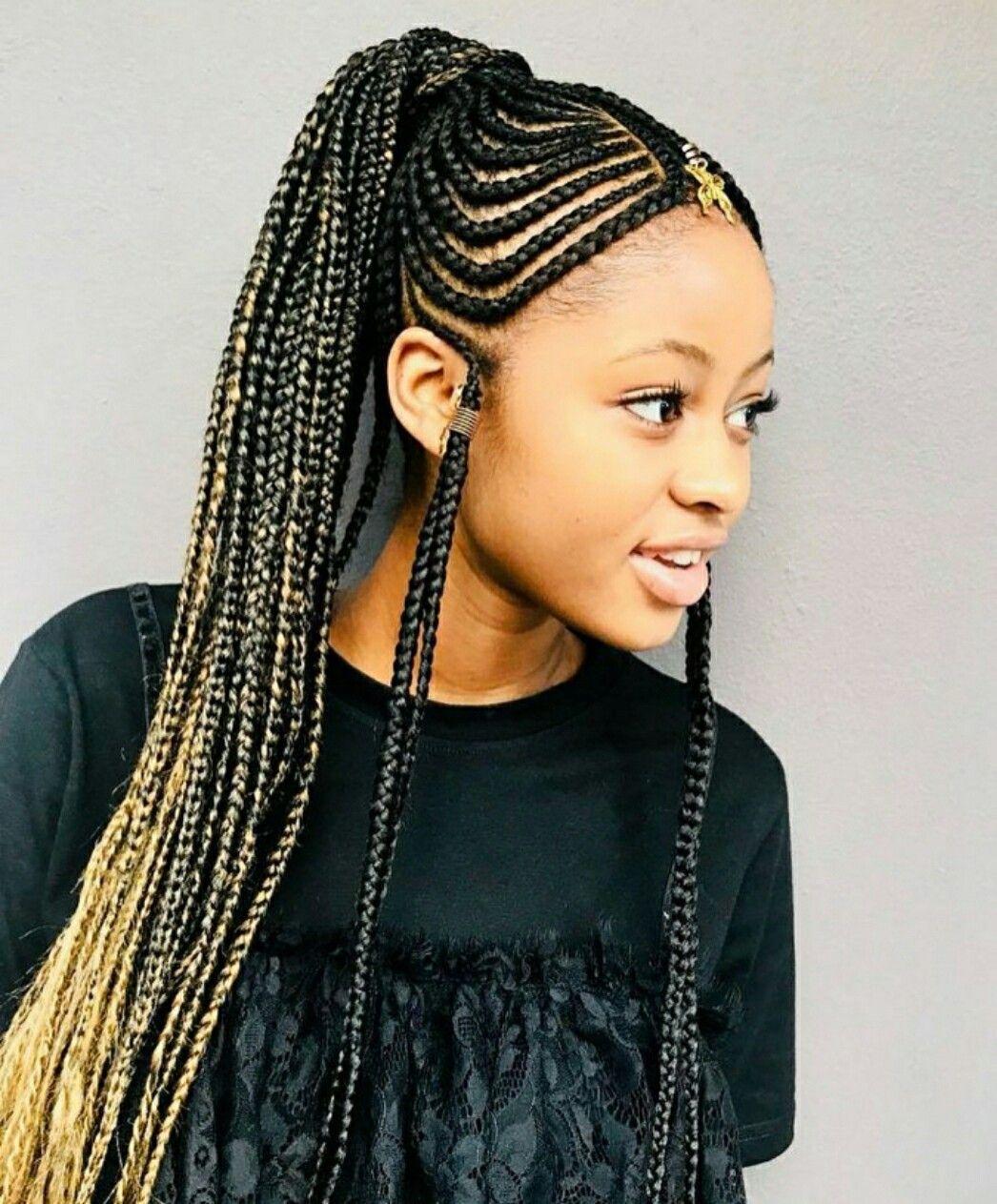 Pin By Merry Loum On Ghana Braids Cool Braid Hairstyles Braided Hairstyles Natural Hair Styles