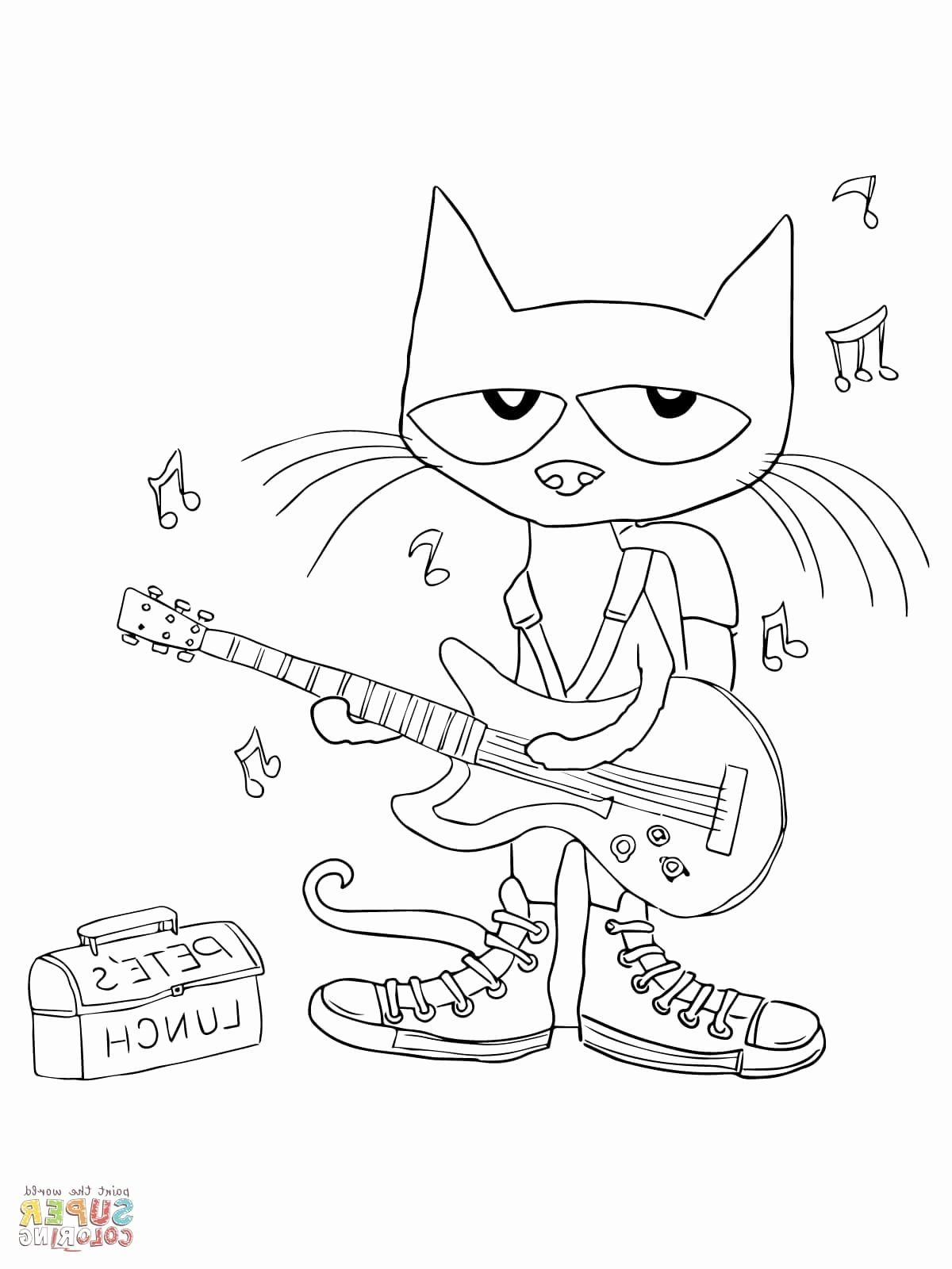 Pete The Cat Coloring Page Best Of Pete The Cat Coloring Coloring