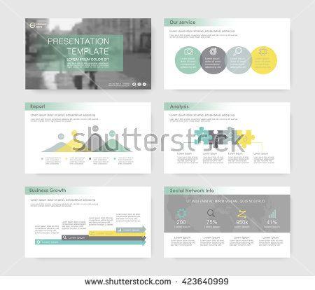 Set of infographic elements for presentation templates Leaflet