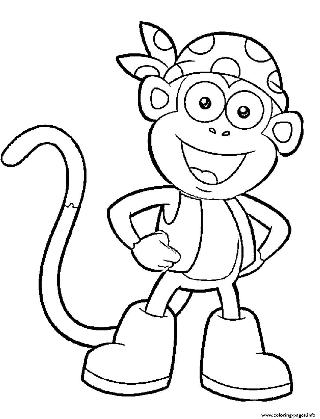Painting pages dora - Print Dora Printable S Boots Character451a Coloring Pages