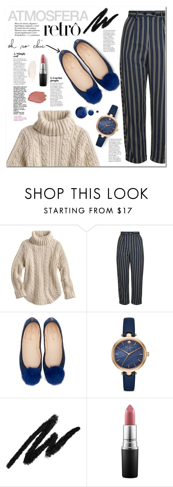 """""""Atmosfera Retrò"""" by alexispengu ❤ liked on Polyvore featuring Topshop, Kate Spade and MAC Cosmetics"""