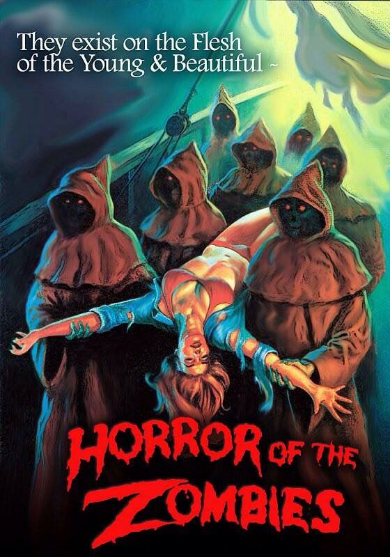 """""""The Ghost Galleon,"""" aka """"Horror of the Zombies"""" (1974) promotional art"""