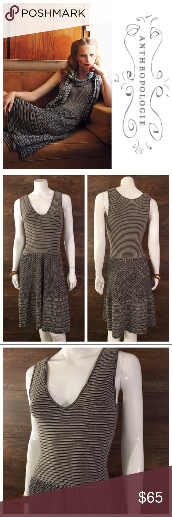 3dbb4ad214946 Knitted & Knotted Test Pattern Sweater Dress Layered and lined with layers  of lines, this