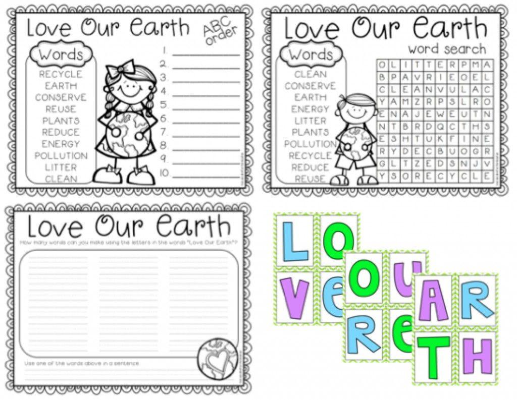 A Cupcake For The Teacher Love Our Earth Freebie 2