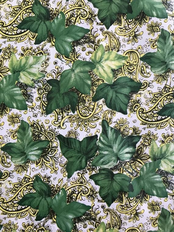 """Vintage Wrapping Paper1950sIvy Leaves of Green accented byYellow paisley.Handsome2 SheetsLight Vellum Like PaperNew In Package26"""" by 20"""" eachKaycrestThis vintage wrapping paper was sold folded and have the factory creases.Please convo me with any questions and thank you for stopping in at planet trout!"""