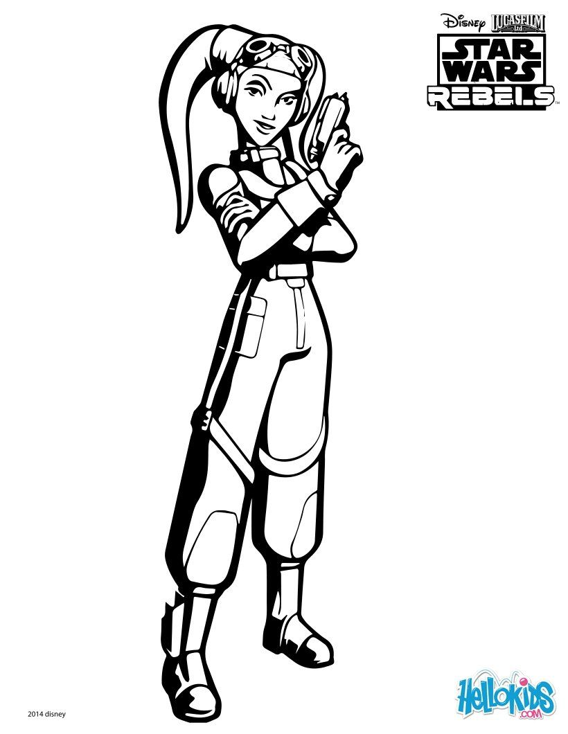 Hera Is Back In The Animated Series Star Wars Rebels You Can Print Out This SWR Coloring Page To Color At Home Or Use Interactive