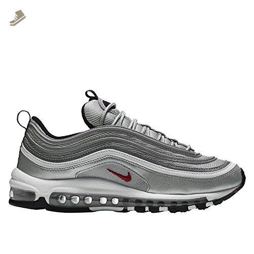51b0703ddad90 Nike Women's W Air Max 97 OG QS, METALLIC SLIVER/VARSITY RED, 7 US ...
