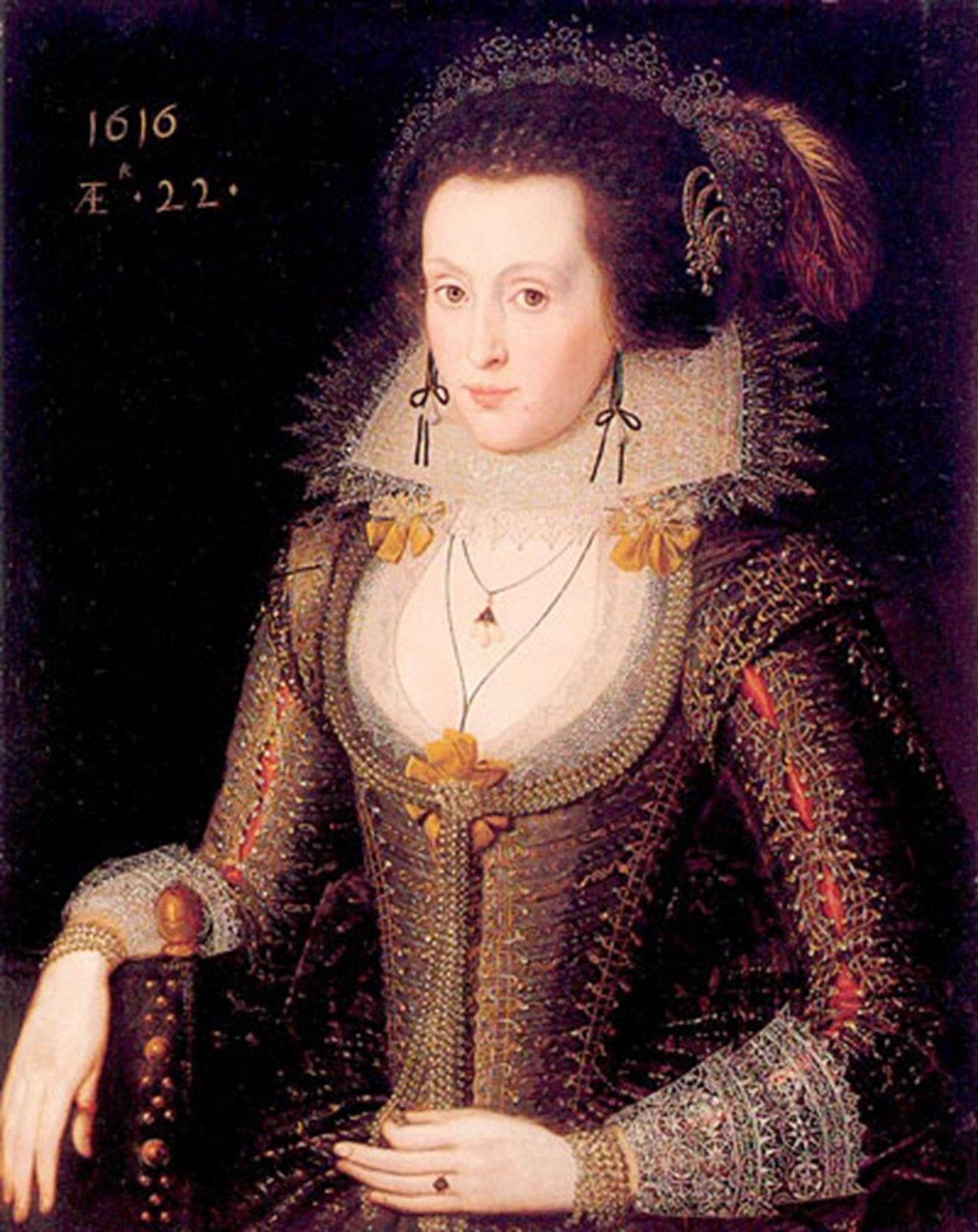 Anne Of Denmark~counted cross stitch pattern #583~Fine Art Royalty Graph Chart
