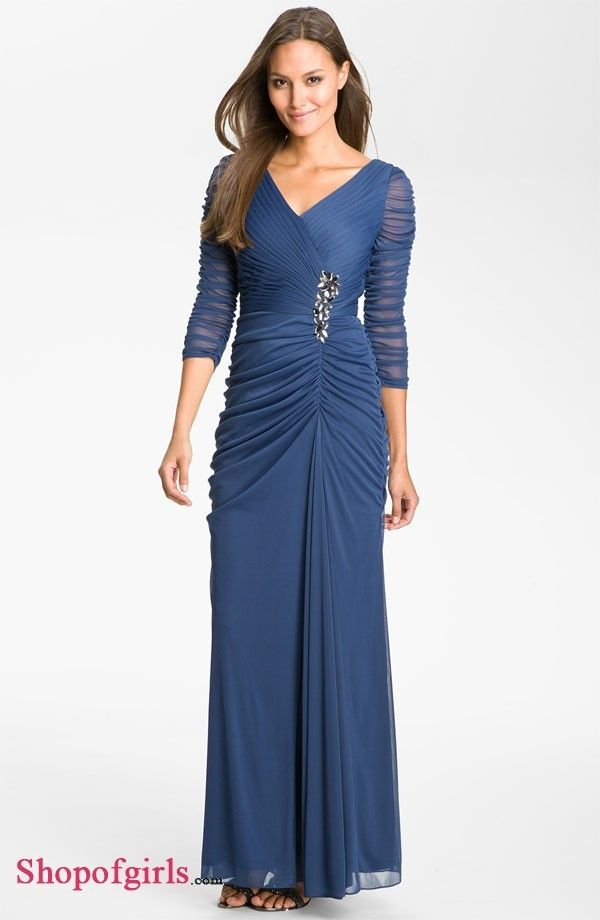 Royal Blue Chiffon Cheap Mother of the Bride Dresses ...