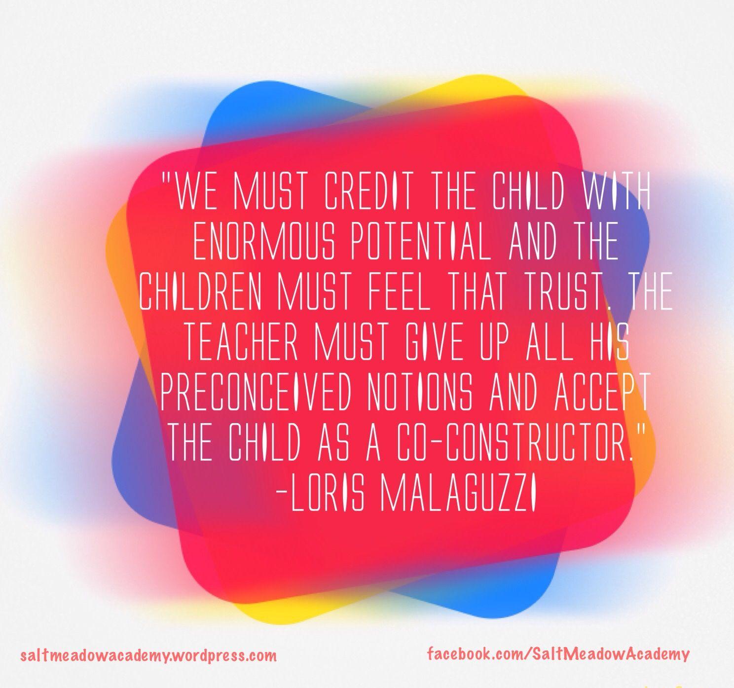 Reggio quote. Loris malaguzzi. | Intentional teaching ...