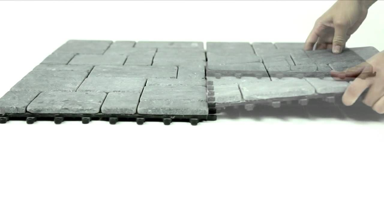 Easy To Install Build Stone Flooring In Just Minutes These Snap On Tiles Have An Interlocking Design Base For Do It Yourself Installation